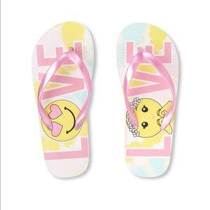 NWT Children's Place LOVE Flip Flops 1-2